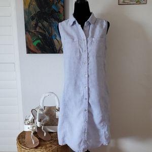 Adrienne Vittadini linen shirt dress size 4